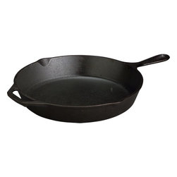 "Lodge® Cast Iron 12"" Skillet - No Downton Abbey kitchen would be complete without cast iron skillets — a bunch of them, I'm sure. If you've never cooked in cast iron, you should really give it a try."