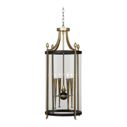 Robert Abbey - Robert Abbey Warwick Large Pendant 861 - Antique Brass Finish with Painted Bronze Accents