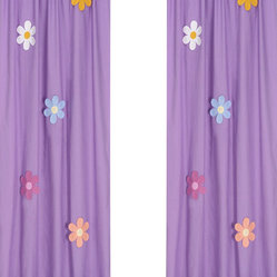 Daisies Window Panels (Set of 2)