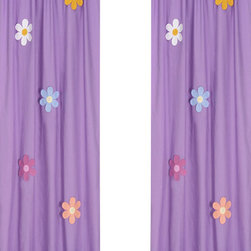"Sweet Jojo Designs - Daisies Window Panels (Set of 2) - Create a stylish look for your child's room with the Daisies Window Panels (Set of 2). This set features 2 Window Panels that are 42"" x 84"" each."