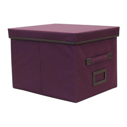 Yu Shan - File Storage Box (Plum) - Color: PlumSturdy canvas exterior. Stand up to tests of time. Warranty: 90 days. Made from canvas. No assembly required. 16.25 in. W x 12.25 in. D x 11.13 in. H (3.85 lbs.)Keep this file box handy at home or in the office to store important documents and more in a discrete manner.