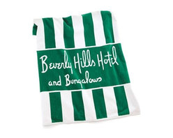 Signature Beach Towel, Green/White - You can purchase these towels at the hotel's official gift shop. I love that they look so pretty just placed by the pool for an extra touch of Hollywood glam.