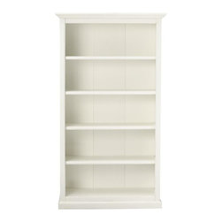 Martha Stewart Living Ingrid Bookcase, Rubbed Ivory, 5 Shelf - This is a very affordable bookcase option.