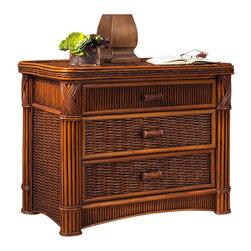 Wicker Paradise - Rattan Chest : Barbados 3 Drawer - Rattan chest is made of thick wicker woven on a heavy wood frame and finished with a thick rattan frame. Drawers are on an easy glider roller system.
