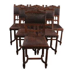 EuroLux Home - Set/6 Antique French Renaissance Dining - Product Details