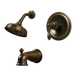 Pegasus - Pegasus Estates Single-Handle 1-Spray Tub and Shower Faucets in Heritage Bronze - Estates Single-Handle 1-Spray Tub and Shower Faucet in Heritage Bronze