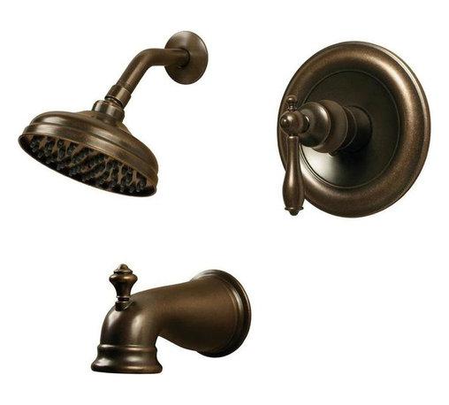 Pegasus - Pegasus Estates Single-Handle 1-Spray Tub and Shower Faucets in Heritage Bronze - Estates Single-Handle 1-Spray Tub and Shower Faucet in Heritage Bronze
