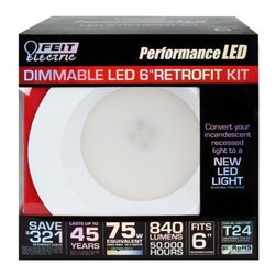 FEIT ELECTRIC CO #261200 - LEDR6/3K - LED Dimmable Retrofit Kit - LED Dimmable Retrofit Kit