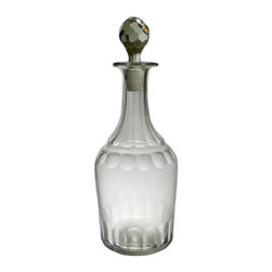 Lavish Shoestring - Consigned Sherry or Port Decanter in Blown & Faceted Glass, English Late Georgia - This is a vintage one-of-a-kind item.