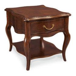 Hammary - Hammary Cherry Grove Rectangle End Table in Mid Brown - Rectangle end table in mid brown belongs to Cherry Grove collection by Hammary