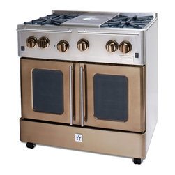 "BlueStar Enchanted Sand 36"" Gas Range - Enchanted Sand 36"" Gas Range-part of the Precious Metal Collection"