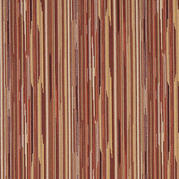 Orange Brown Ivory Abstract Striped Contract Upholstery Fabric By The Yard - P3552 is great for residential, commercial, automotive and hospitality applications. This contract grade fabric is Teflon coated for superior stain resistance, and is very easy to clean and maintain. This material is perfect for restaurants, offices, residential uses, and automotive upholstery.