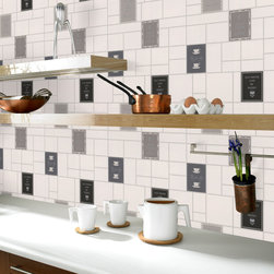 Graham & Brown - Keep Calm Wallpaper - Keep calm inspired tile is a great mantra for any kitchen the white, black, silver wallpaper. The infamous saying that will add a creative effect to your walls in its neutral colours will bring any room to life.