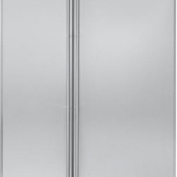 "GE Monogram 48"" Built-In Side-by-Side Refrigerator - This Built-in Side by Side Refrigerator has Advanced Temperature Management System with Multi-Shelf Air Tower, Climate-Control Drawer, Humidity-Controlled Vegetable Drawer, GE® Water Filter"