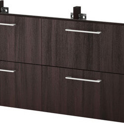 IKEA of Sweden - GODMORGON Sink cabinet with 4 drawers - Sink cabinet with 4 drawers, black-brown