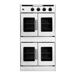 "American Range 30"" Double French Door Gas Wall Oven, Stainless 