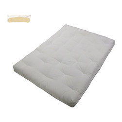 EpicFurnishings - Au Natural Cotton-filled 8-inch King-size Futon Mattress - This supportive king-size futon mattress from Au Natural is generously filled with 100-percent cotton,which ensures your comfort and provides very firm body support.