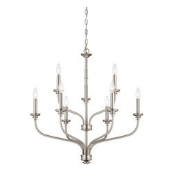 Minka Lavery - Minka Lavery ML 4179 9 Light 2 Tier Candle Style Chandelier from the Harbour Poi - Nine Light Two Tier Candle Style Chandelier from the Harbour Point CollectionFeatures: