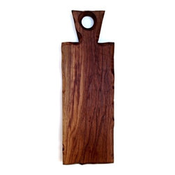 Sean Alan Designs - Cutting Board With Handle-Slate Fo - The handled version of the slate-FO.  Easy grip, easy display.  Made from solid walnut. A beautiful accent piece for any event.  You owe it to yourself for this one.