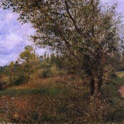 "Camille Pissarro Pontoise Landscape, Through the Fields   Print - 16"" x 20"" Camille Pissarro Pontoise Landscape, Through the Fields premium archival print reproduced to meet museum quality standards. Our museum quality archival prints are produced using high-precision print technology for a more accurate reproduction printed on high quality, heavyweight matte presentation paper with fade-resistant, archival inks. Our progressive business model allows us to offer works of art to you at the best wholesale pricing, significantly less than art gallery prices, affordable to all. This line of artwork is produced with extra white border space (if you choose to have it framed, for your framer to work with to frame properly or utilize a larger mat and/or frame).  We present a comprehensive collection of exceptional art reproductions byCamille Pissarro."