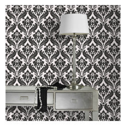 Graham & Brown - Vintage Flock Wallpaper - Vintage Flock gives a classic design style a modern twist, sumptuous colours and a feel of real decadence and inspired by Kelly's visit to the palace to receive her MBE!