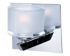 ET2 Lighting - E22811-09PC ET2 Lighting Vortex - Simple yet elegant, the Vortex single light wall sconce features a simple frosted white glass cylinder attached to a minimalist arm and square backplate.