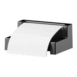 K Hagberg/M Hagberg - BOLMEN Toilet roll holder - Toilet roll holder, black, white
