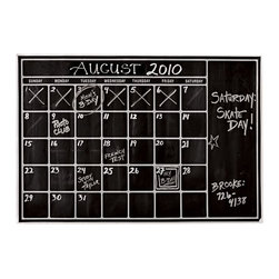 Chalk Calendar Wall Decal - Organize the month with an oversize calendar wall decal so that you can see your schedule at a glance.