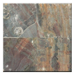 "Multi Select Cleft Finish Slate Floor & Wall Tiles 12"" x 12"" - 12"" x 12"" Multi Select Solid Polished Finish Square Pattern Slate Flooring Tile features a Multi Select  to accent many home interiors. This beautiful slate tile features a smooth, high-sheen finish and a random variation in tone to help add style to your decor along with your bathroom vanity. Designed for floor, wall and countertop use, this Slate tile is marginally skid resistant to suit your needs. Simply gorgeous tile."