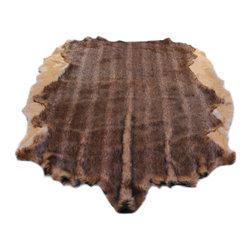 Fur Accents - Fur Accents Pelt Rug, Brindle Faux Fur Hide, Floor Couture, 5x6 - A Truly Original Animal Theme Accent Rug. Rich and Silky Soft Faux Animal Pelt Carpet.