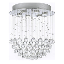 "The Gallery - Modern chandelier ""Rain Drop"" Lighting with Crystalalls - 100% crystal chandelier. A excellent Crystalixture for your foyer, dining room, living room and more! This fixture features beautiful 100% crystals Balls that capture and reflect the light. Truly a stunning chandelier, this chandelier is sure to lend a special atmosphere anywhere it is placed. Collection: G902 Modern Collection. W18"" H21"""