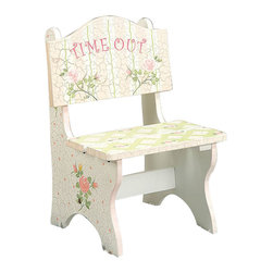Teamson Design - Teamson Kids Crackled Rose Room Hand Painted Time Out Chair - Teamson Design - Kids Chairs - W6546AR. A New addition to the Crackle Finish Family this Crackle Finish Rose Time Out Chair adds a great feel of both usability and grace to any little girls room.