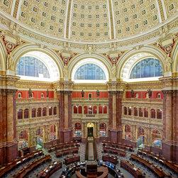 Main Reading Room Library of Congress Washington DC Print - Main Reading Room Library of Congress Thomas Jefferson Building, Washington, D.C.