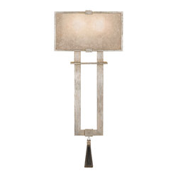Fine Art Lamps - Fine Art Lamps 600550-2ST Singapore Moderne Silver Warm Wall Sconce - 2 Bulbs, Bulb Type: 60 Watt Candelabra; Weight: 10lbs