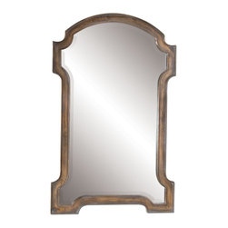 Uttermost - Corciano Oxidized Copper Mirror - A penny for your thoughts about this impressive copper mirror. You're probably thinking how terrific slightly tarnished can be, as well as how its intentionally rustic appearance will just seem to make sense (not cents) in your entryway.