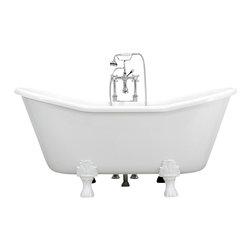 The Tub Studio - 'Bellini' CoreAcryl White Acrylic French Bateau Claw-Foot Tub - Product Details