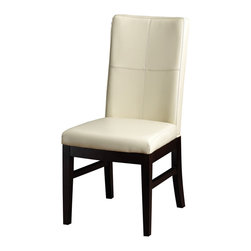 Artemano - Nona Embroidered Leather Chair, Vanilla - The Nona Embroidered Leather Chair, available in black, vanilla, grey or brown leather, is assembled and upholstered with precision and care as demonstrated in the quality of the finished product. With two simple yet bold stitches running both horizontally and vertically across the front and back of the chair, the attention to detail is clearly one of the best features of this stunning contemporary chair.