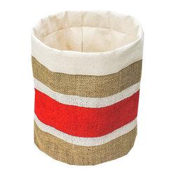 Mayenne Maison - Burlap Kitchen / Bathroom Storage Bins - Shell: 100% Burlap
