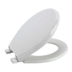 PREMIER - Premier 283030 Slow-Close, Round Toilet Seat, Plastic, White - Features:
