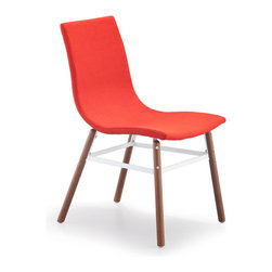 ZUO MODERN - Stavanger Chair Tangerine Fabric (set of 4) - Stavanger Chair Tangerine Fabric
