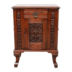 British Antique Carved Oak Dry Bar - The HighBoy, Ateliers Dubois