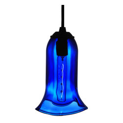 "Meyda Lighting - Meyda Lighting 114310 5""W Fluted Blue Wine Bottle Mini Pendant - Meyda Lighting 114310 5""W Fluted Blue Wine Bottle Mini Pendant"