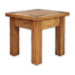 Artisan Home Furniture - Artisan Home Lodge 100 Square End Table in Wood Tone Lacquer - The Lodge collection invites you to sit down, get comfortable and stay a while. Select alder and cottonwood are used to build functional and sturdy pieces for years to come. Casually elegant and striking, all the pieces in this collection display eye pleasing appeal, bringing you images of a quiet mountain country getaway; an escape from daily routine, in your own home.