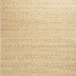 Chan Juan Taupe Grasscloth Wallpaper - A fine grasscloth wallpaper, creating a delicate burlap texture in eco-chic taupe.