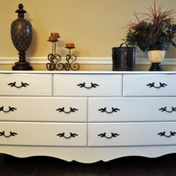 French Provincial Dresser with 7 Drawers in White by Chic Furnishings by Heather