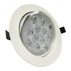 TorchStar - 12Watt Directional LED Recessed Ceiling Light AC85-265V, Daylight - Overview