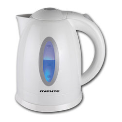 Ovente - Ovente 1.7-liter Cord-free Electric Kettle - Perfect for the home or office, this cordless tea kettle will boil water quickly with 1500 watts of power. An automatic shut off and boil-dry protection ensure safe operation, and a concealed heating element and removable filter make for easy cleanup.