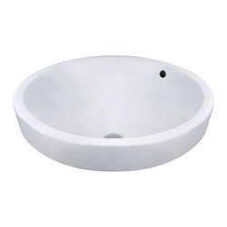 """MR Direct - MR Direct V22182-W White Porcelain Vessel Sink - The V22182-White porcelain vessel sink offers a unique, modern look for any bathroom. It is made from true vitreous China, which is triple glazed and triple fired to ensure your sink is durable and strong. Because this sink is a vessel, no mounting hardware is needed. The overall dimensions for the V22182-White are 18"""" x 7 3/4"""" and an 18"""" minimum cabinet size is required. Vessel sinks require a special spring-loaded pop-up drain, which we offer in a variety of finishes to fit your decor. As always, our porcelain sinks are covered under a limited lifetime warranty for as long as you own the sink."""