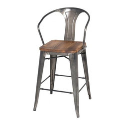 Apt2B - Grand Metal Counter Chair SET OF 4, Gunmetal - Meet our newest love - The Grand. Available in a variety of cool colors, you can mix and match to suit your style. Versatile and modern, this counter chair can go anywhere and look grand.
