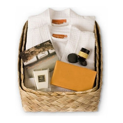 Gilden Tree - Weekend Getaway for Two - Gift Basket - Cream - The ultimate Soulmates Weekend Retreat set! Spend a romantic weekend with someone you love!  It's perfect for an anniversary or wedding gift, or as a thank you for a favorite couple.This lovely, eco-friendly couples gifts has everything you need for a truly divine experience: